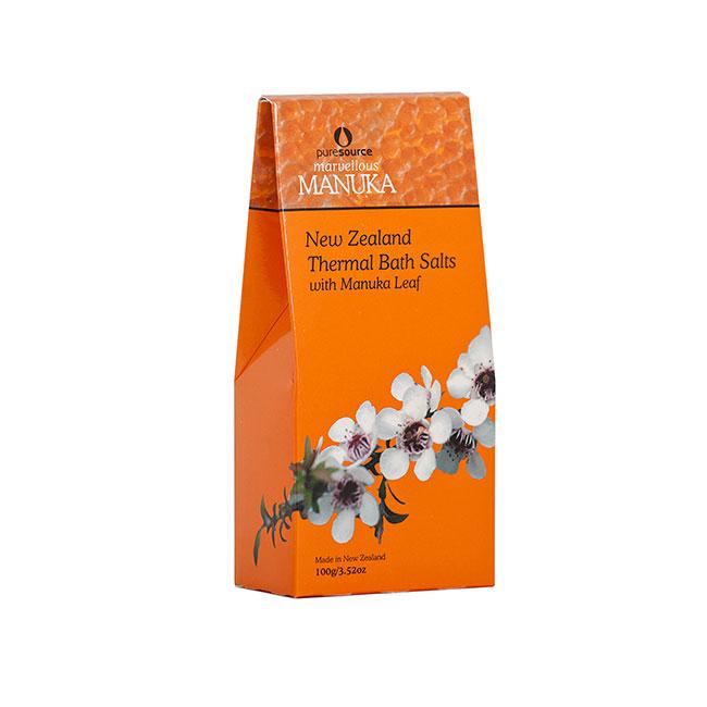 Marvellous Manuka New Zealand Thermal Bath Salts with Manuka Leaf - 100g