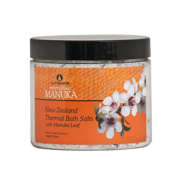 Marvellous Manuka New Zealand Thermal Bath Salts with Manuka Leaf - 500g