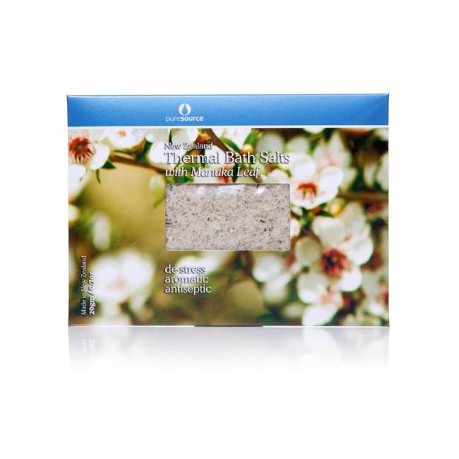 New Zealand Thermal Bath Salts with Manuka Leaf - 20g