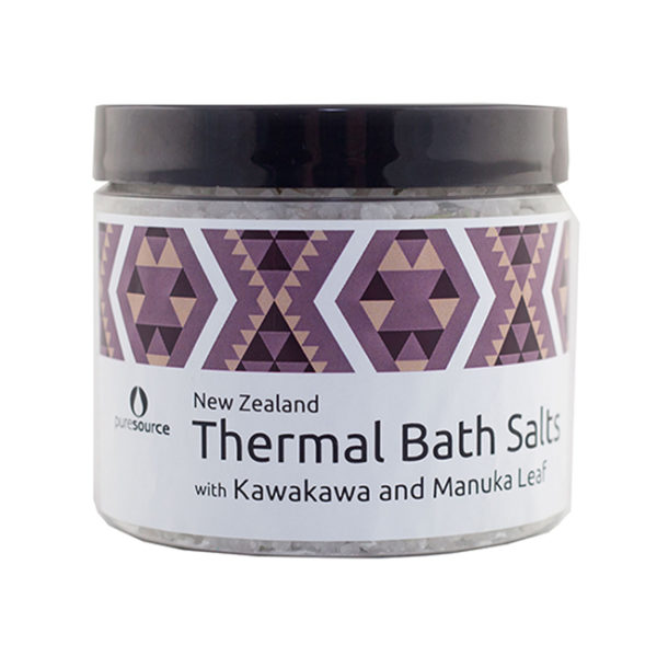 New Zealand Thermal Bath Salts with Kawakawa and Manuka Leaf