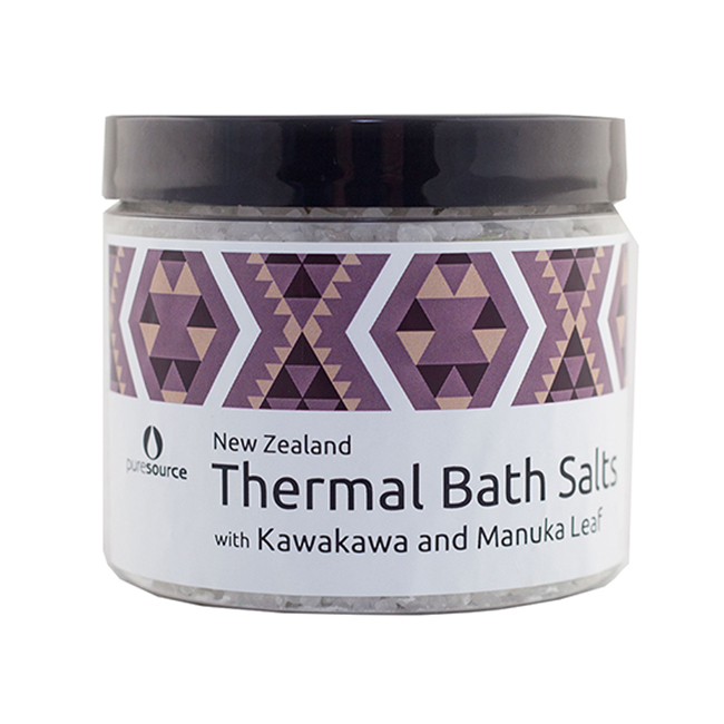 New Zealand Thermal Bath Salts with Kawakawa and Manuka Leaf